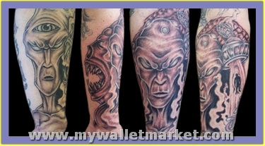 scary-alien-tattoos-on-legs by catherinebrightman