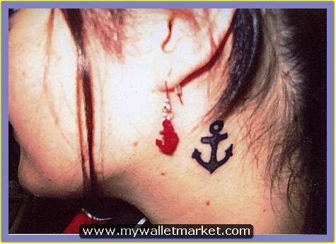 anchor-tattoo-on-girl-side-neck by catherinebrightman