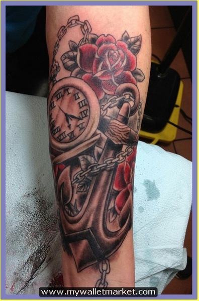 32-anchor-pocket-watch-tattoo by catherinebrightman