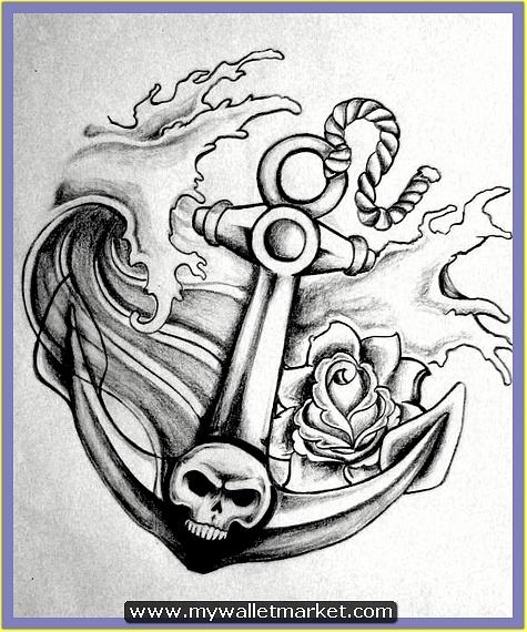 grey-skull-anchor-tattoo-design