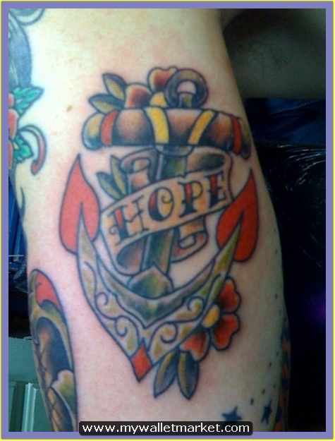 hope-banner-and-colored-anchor-tattoo