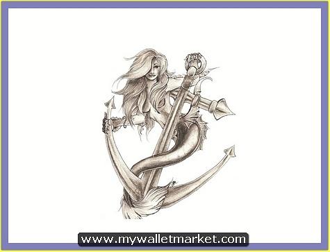 mermaid-on-the-anchor-tattoo-design