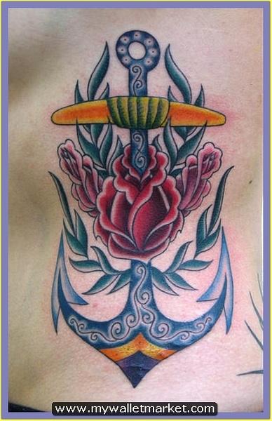 fantastic-rose-anchor-symbol-tattoo-design by...