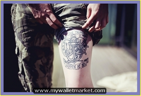 thigh-anchor-tattoo-with-compass-banner-wheel