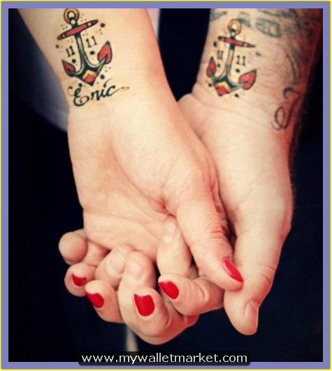 wrist-colored-anchor-tattoos