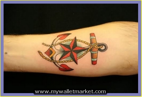 nautical-star-anchor-tattoo-on-arm