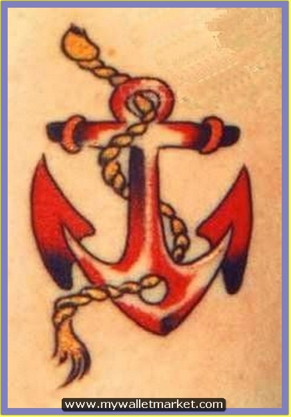 red-anchor-old-school-tattoo by catherinebrightman