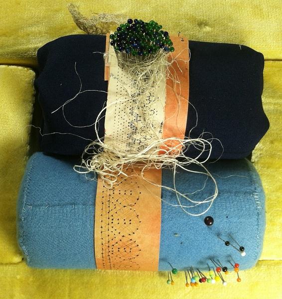 Vintage Foam Pillow - Rollers ---$95 by DanielleHoren