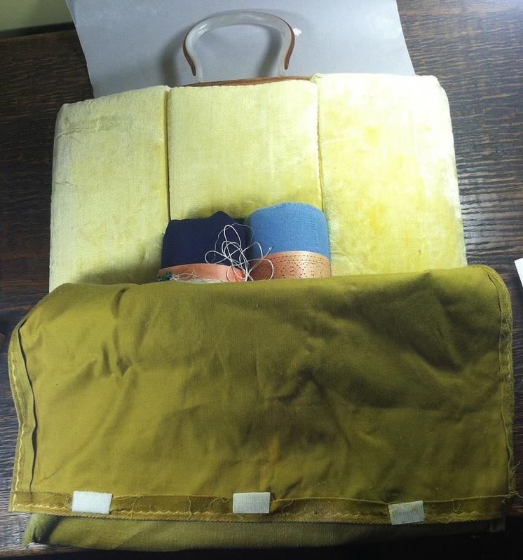 Vintage Foam Bobbin Lace Pillow-PartialCover-- $95