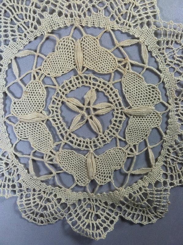 Vintage White Cotton -Bobbin Lace Doily -  $4