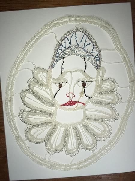 Pierrot-clown - finished lace by DanielleHoren