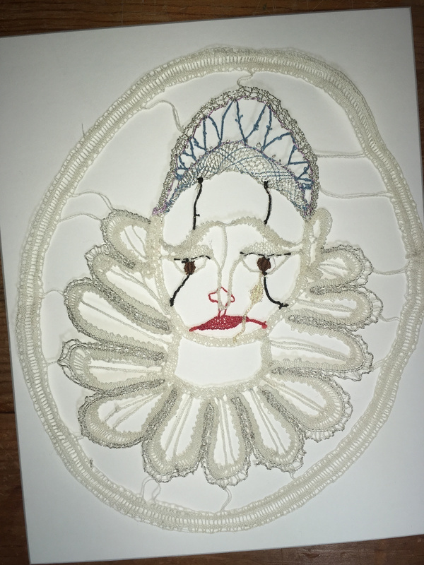 Pierrot-clown - finished lace