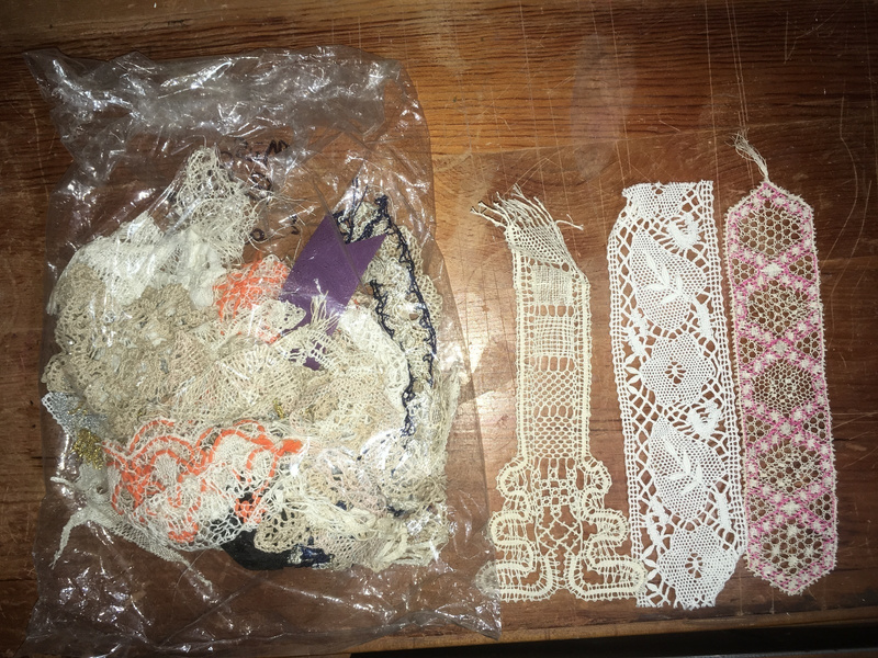 Misc. Lace Bookmarks & Bag of Lace
