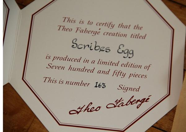 FabergeEggCertificate by DanielleHoren