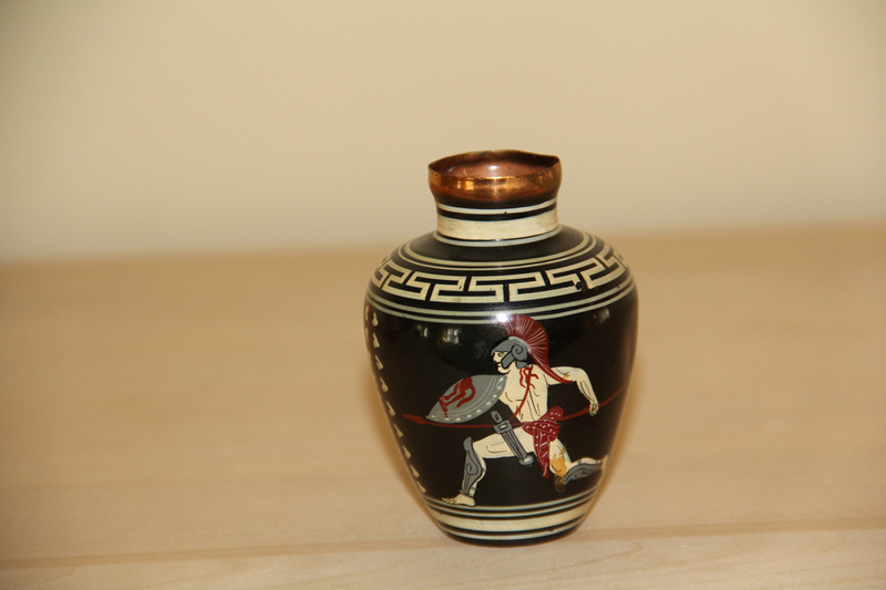 Greek Enamel Vase