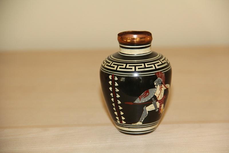 Greek Enamel Vase