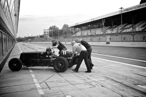 Historical car in Monza